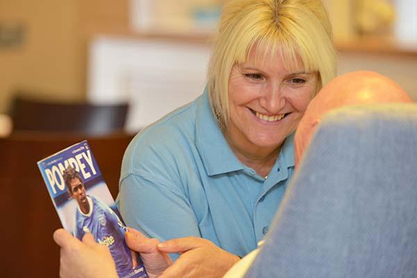 Cornerstone Carer talking to resident