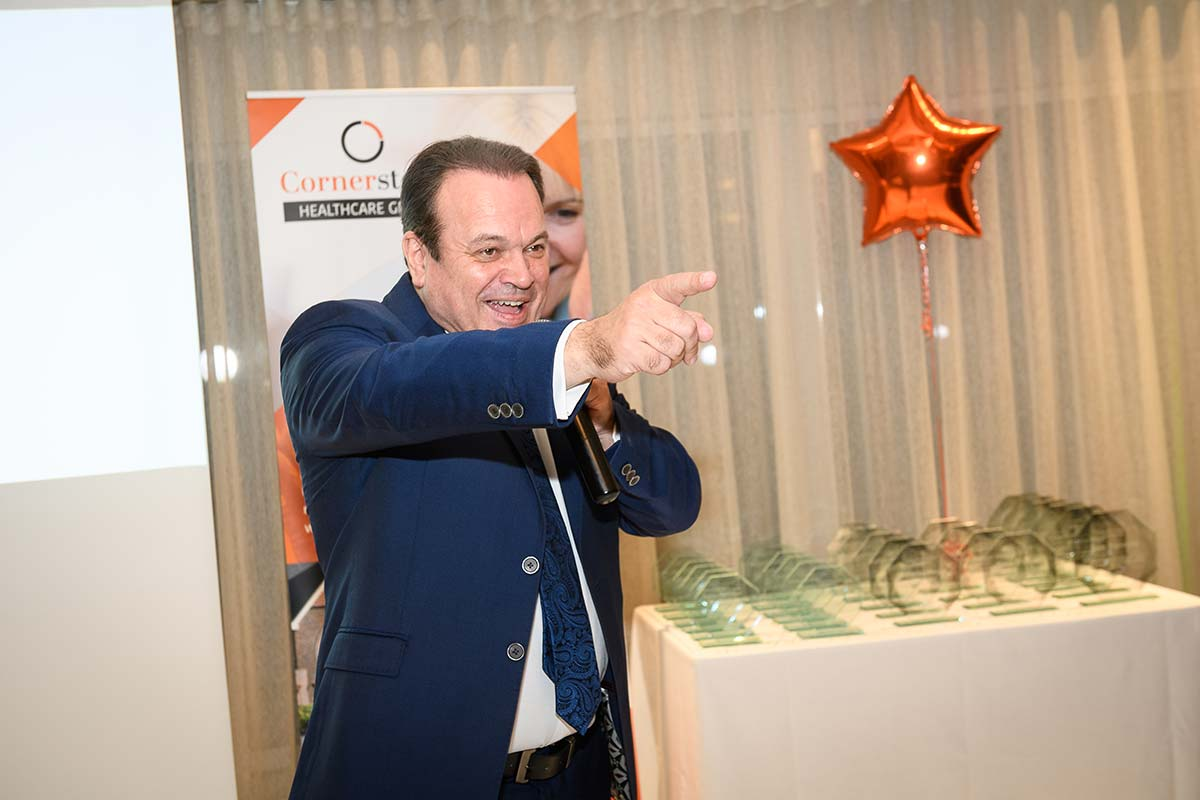 EastEnders Star Shaun Williamson singing at Cornerstone long service awards