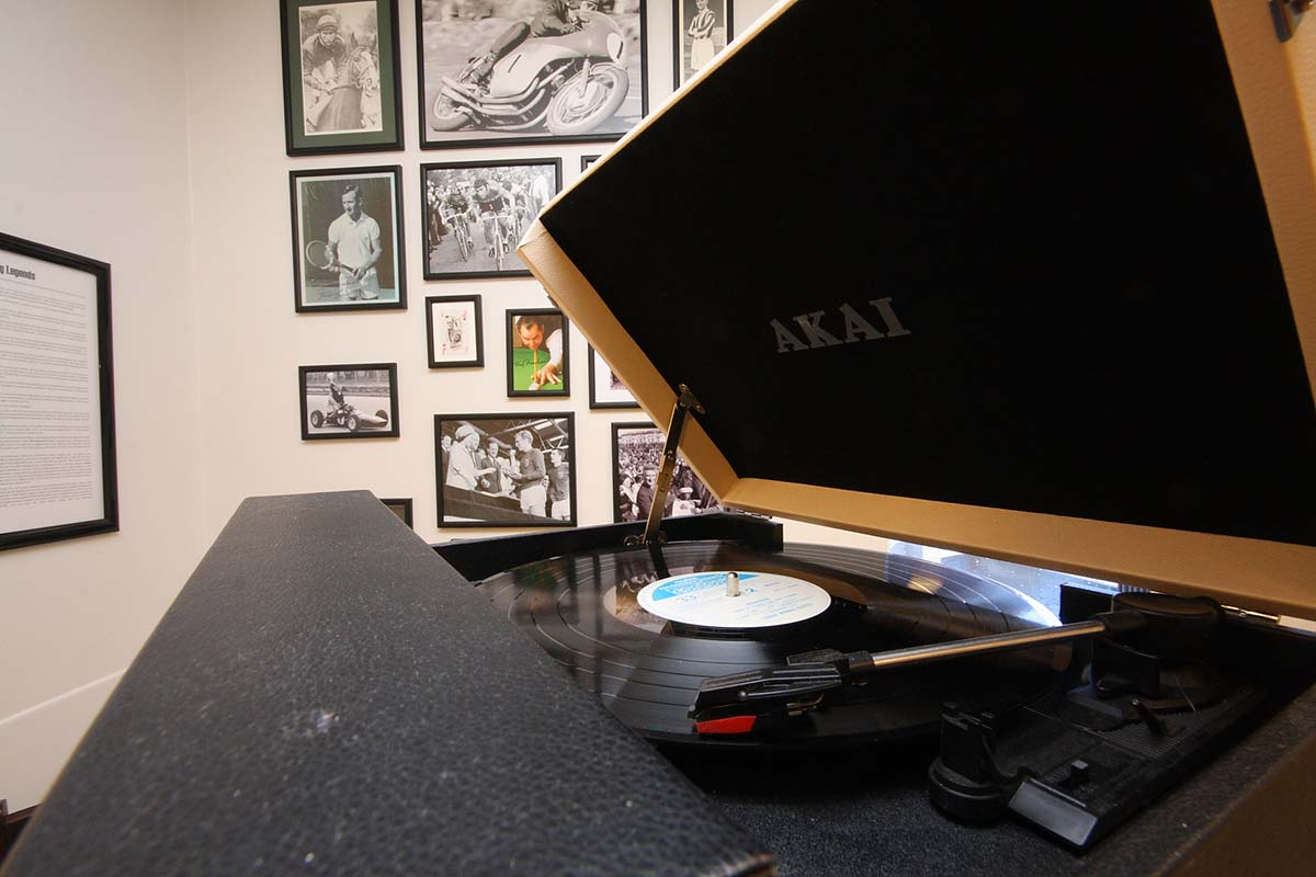 Cornerstone South Africa Lodge Specialist Nursing Home Bar - close up of record player